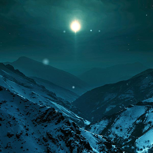 Night Sky Moon Mountains Wallpaper Engine