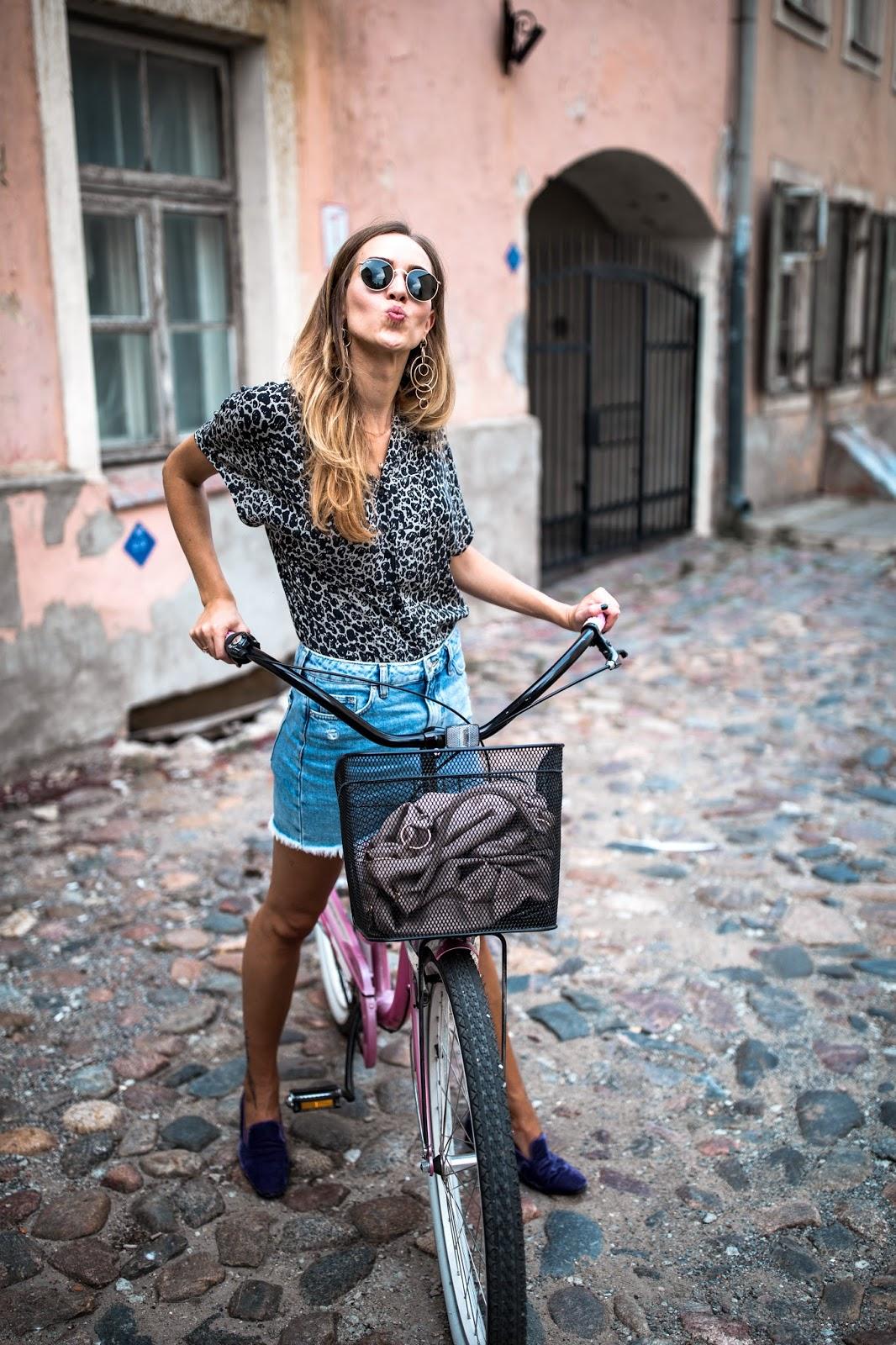 girl bike summer fun