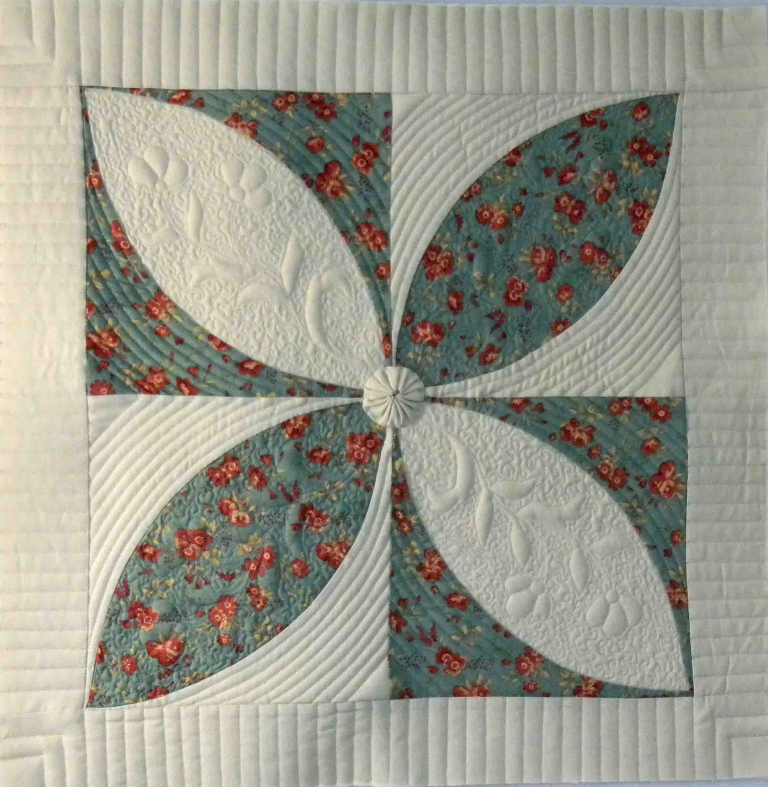 Monday Quilt Files Orange Peels and Wedding Rings