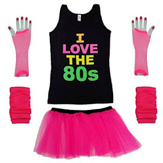 Neon 80s Costume Kit for Women