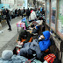 Hundreds of Berliners line up for shoe with sewn-in annual transit ticket