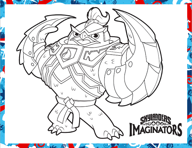 king pen skylanders coloring sheet