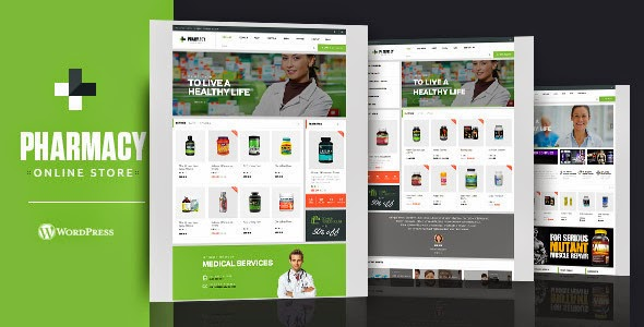 Medical Store Websiet Theme