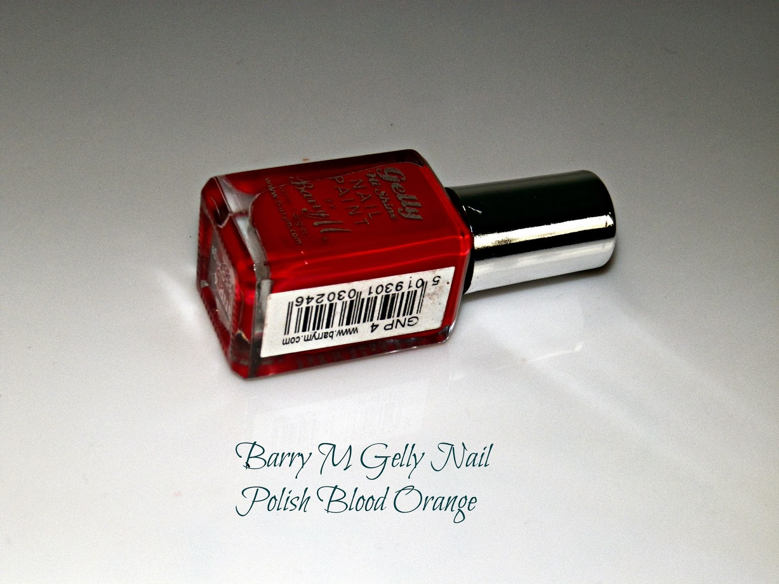 Barry M Gelly Nail Polish Blood Orange Swatches