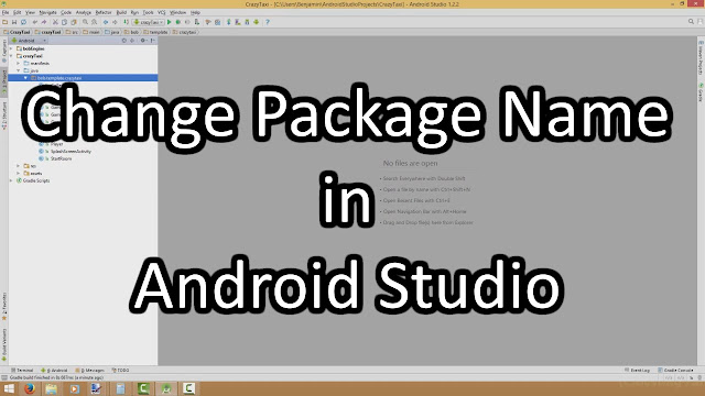 change company domain and package name android studio