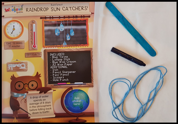Creating Sun catchers with weekend box craft subscription