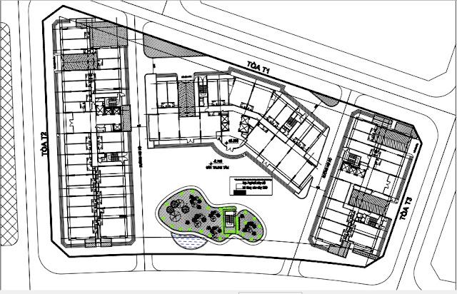 Phối cảnh 3 tòa T1 T2 T3 chung cư B1.3 Thanh Hà Mường Thanh