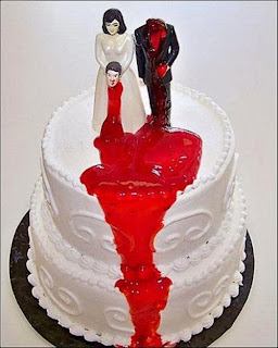 Funny divorce death psychopath cake joke picture
