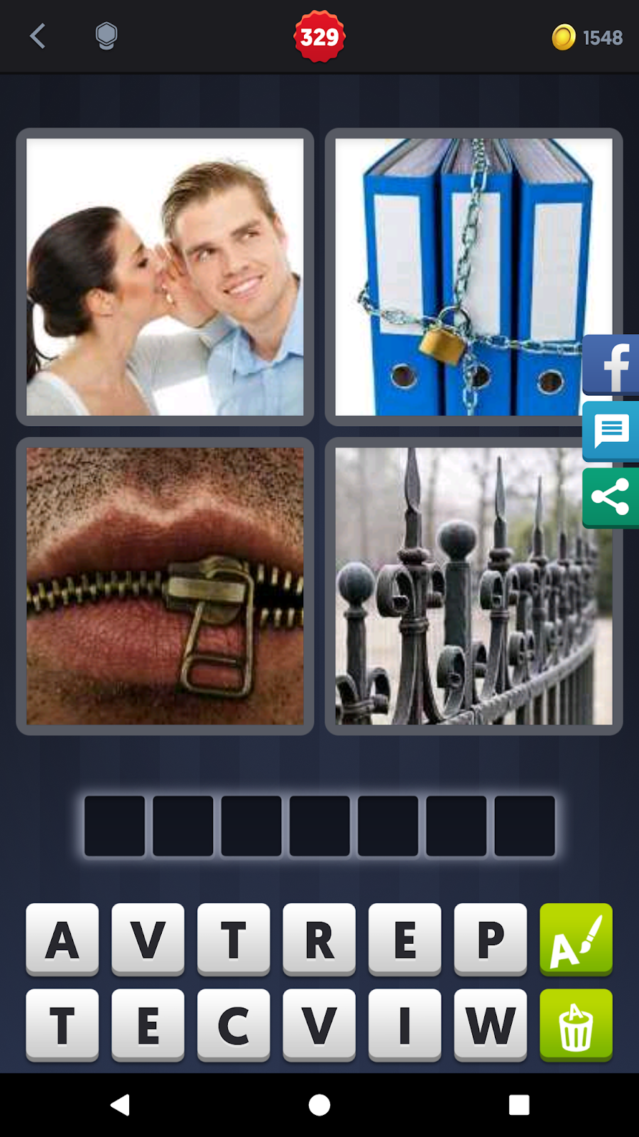4 Pics 1 Word Answers Solutions Level 329 Private