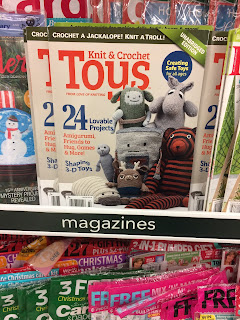 magazine, love of knitting, tiger, toy