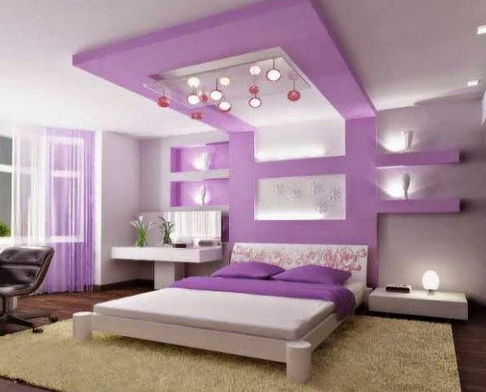 This purple nuanced bedroom is also beautiful for your daughter, according to her favorite color