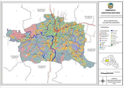 Peta Kecamatan Ajibarang