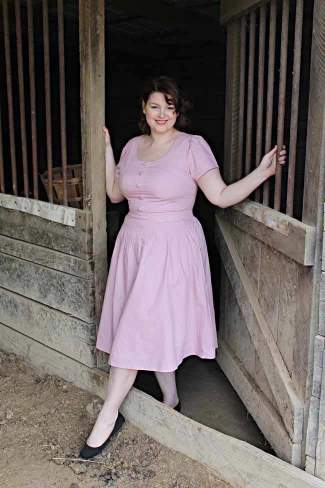 vintage 1950s style pink dress from EShakti