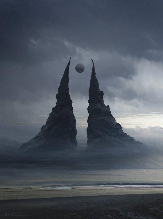 Tierno Beauregard artstation deviantart ilustrações ficção científica fantasia surreal sombrio cenários alienígenas matte painting