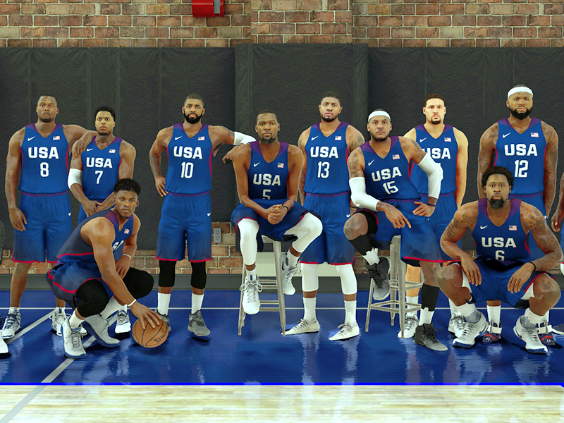 NBA 2K17 Screenshot - 2016 USA Basketball Men's National Team (Leaked) - Enhanced