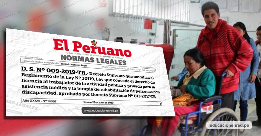 Trabajadores pueden pedir días libres para atender a familiares con discapacidad, según Decreto Supremo N° 009-2019-TR