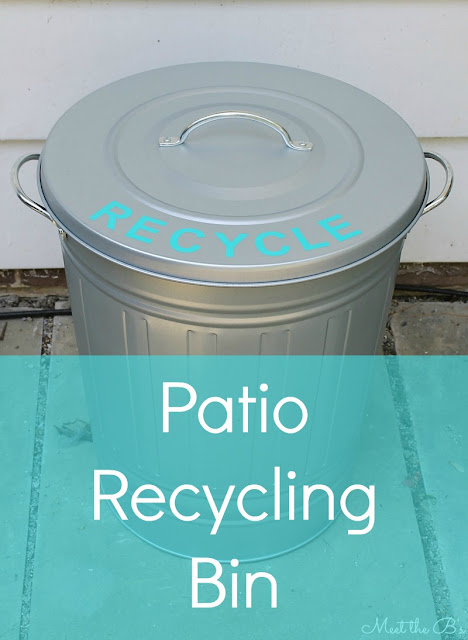 DIY Patio Recycling Bin