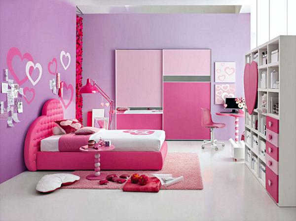 10 Model Tempat Tidur Minimalis Untuk Anak Perempuan Bertema Pink ! - Elegant