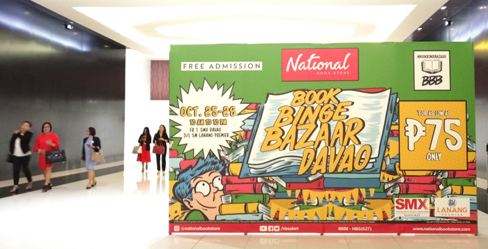 National Book Store Book Binge Bazaar in Davao is now open