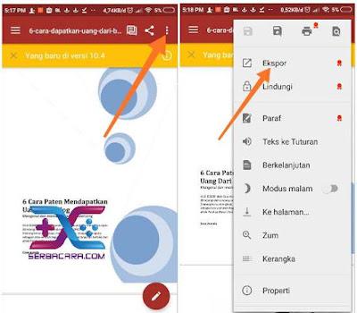 Cara Merubah PDF ke Word di Android dan Komputer