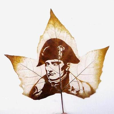 Napoleon Bonaparte en una hoja de maple