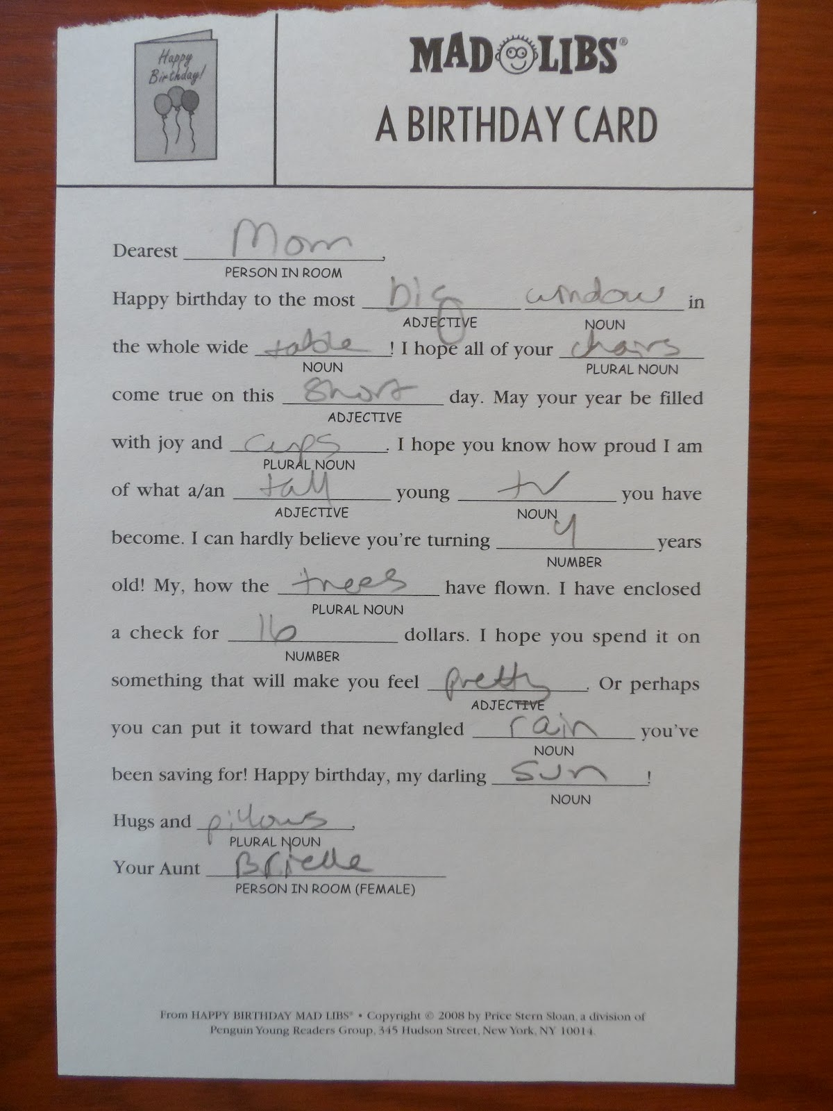 Brielle And Me Our Journey With Cmv And Cp Mad Libs Revelation