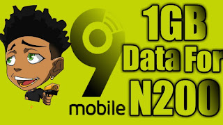 How To Activate 9mobile 1gb data for 200 naira