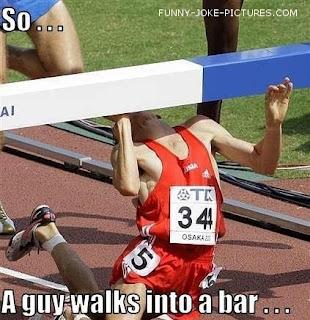 An athlete walks into a bar