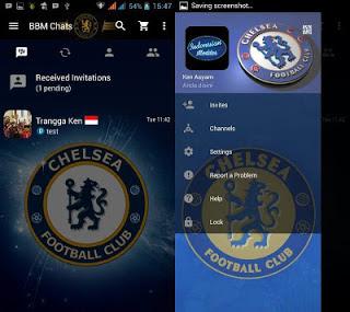 BBM MOD Chelsea FC versi 3.0.0.18 Apk Terbaru (Nike Inc)