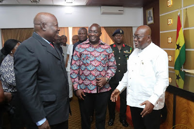 Mr Amidu with President Akufo-Addo and the Vice President Dr Mawumia on the day he was announced as Special Prosecutor