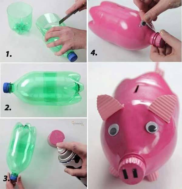 Popolare Come riciclare le bottiglie di plastica | donneinpink magazine UD39