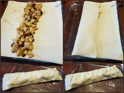 How to make an apple strudel folding