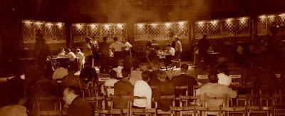 Sala de juego del VIII Campeonato de España por equipos, Barcelona 1964
