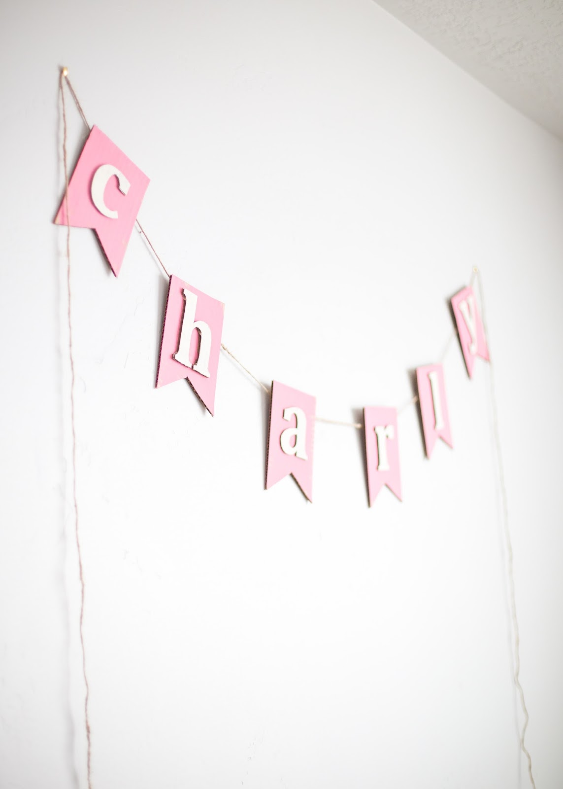 Nursery Name Banner, Name Banner, Pink Banner
