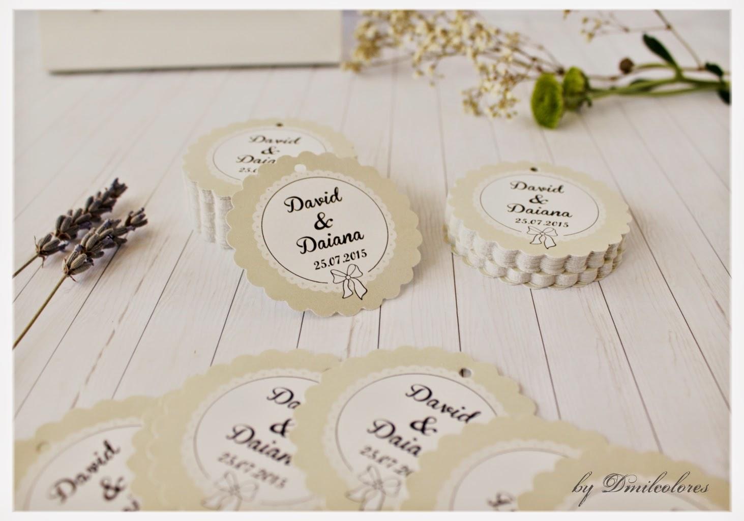 Dise o de etiquetas de boda dmilcolores detalles for Diseno de etiquetas