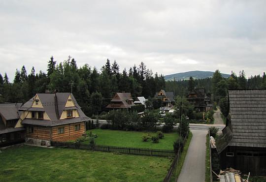 Kira Leśnicka. Ponad lasem widać Palenicę Kościeliską (1183 m n.p.m.).