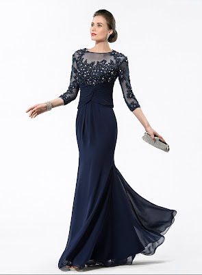 Hot selling Jewel Appliques/Sequins Mother Of The Bride Dress (12725216)