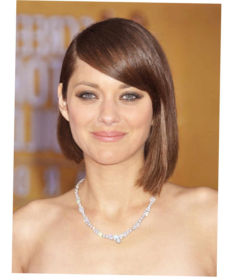A Line Bob With Side Bangs Across Forehead Picture