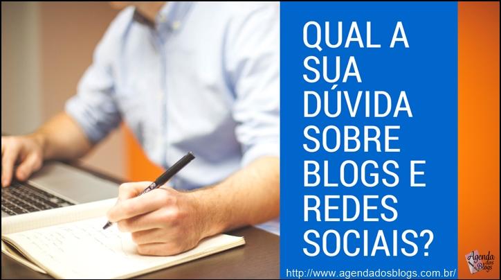 Dúvidas sobre blogs e redes sciais