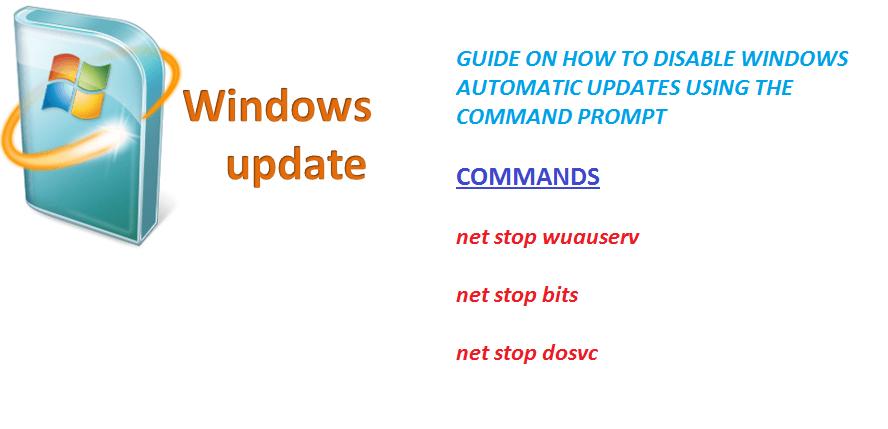 stop windows update cmd