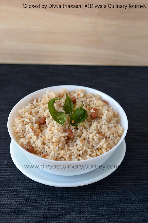Peanut Rice, Groundnut Rice, Verkadalai sadam