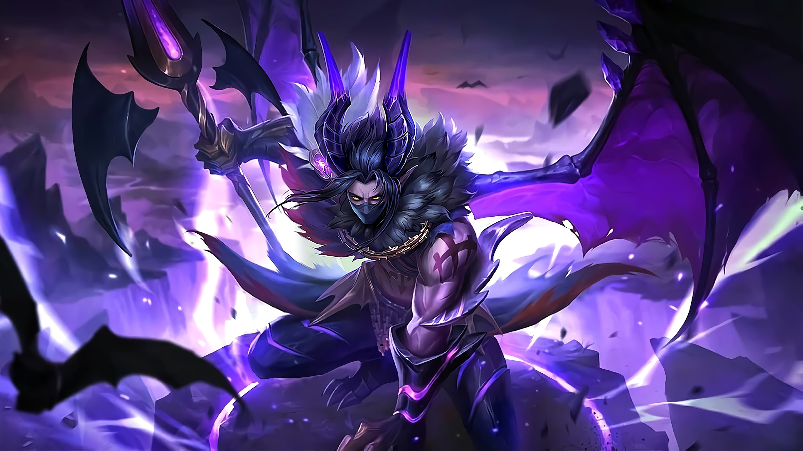 Moskov Twilight Dragon Skin Mobile Legends 4K Wallpaper #139