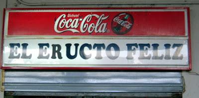 el eructo feliz, bar, nombres de bares, humor, bar plaza Beceite