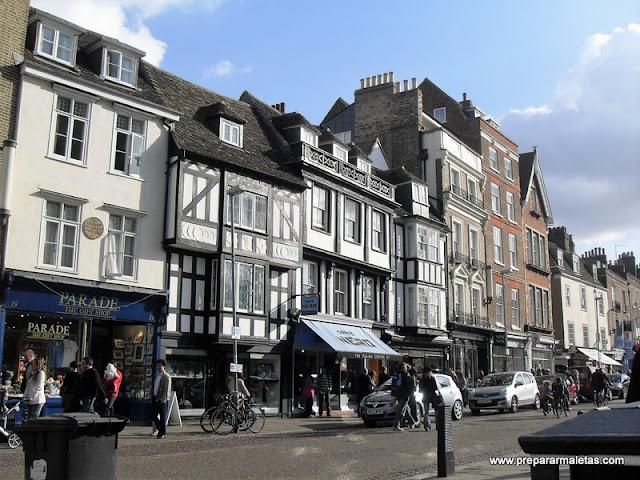 calle comercial cambridge, excursión desde Londres