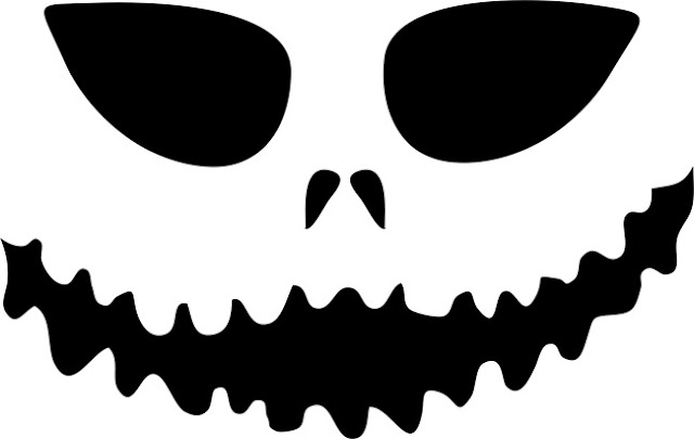 Top printable scary face pumpkin carving pattern design stencils