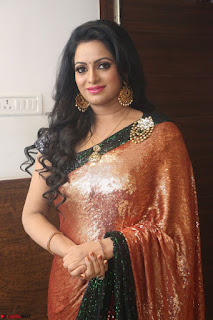 Udaya Bhanu lookssizzling in a Saree Choli at Gautam Nanda music launchi ~ Exclusive Celebrities Galleries 052.JPG