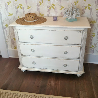 White chalk painted look dresser at 2013 Coastal Living Showhouse at Daniel Island, SC | The Lowcountry Lady
