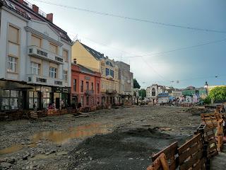 Ужгород. Площадь Шандора Петефи во время реконструкции
