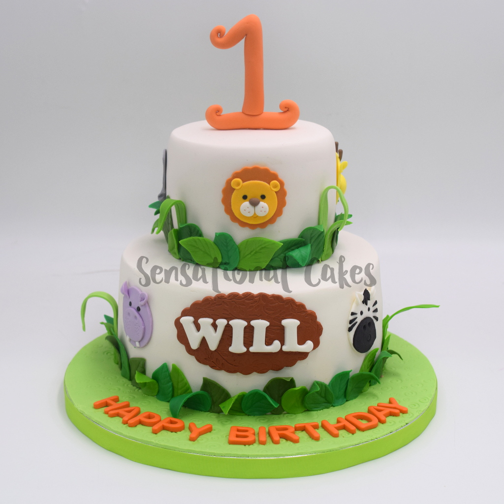 The Sensational Cakes Animal Forest For Baby Boy 1st Year Birthday