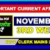 November 3RD Week Current Affairs | GK 2017 | PDF